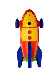 Child's Toy Rocket isolated on white background