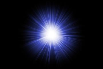 blue lighting flare