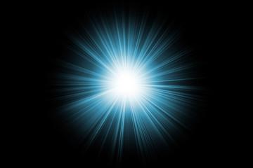 cyan lighting flare