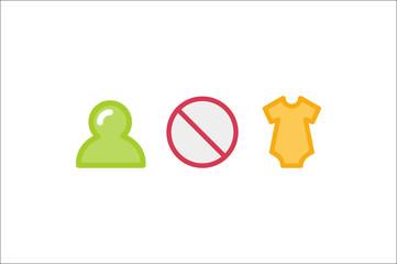 Forbidden conceptual sign: Babys