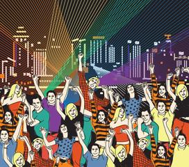Lgbt gay homosexual night disco party.