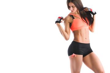 Athletic woman in sportswear.