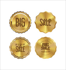 Golden labels retro vintage collection