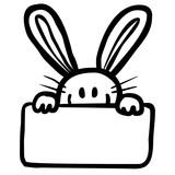 Osterhase Schwarz Weiß : osterhase mit schild frohe ostern schwarz wei vektor freigestellt stockfotos und ~ A.2002-acura-tl-radio.info Haus und Dekorationen