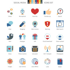 Network Colorful Icons