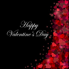 Vector card for Valentine's day or wedding