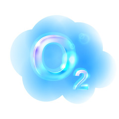Oxigen Formula. Vector illustration, eps10.