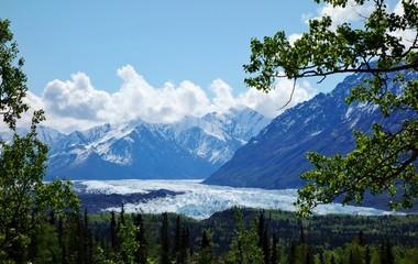 Glaciers in the Kenai Fjords National Park in Alaska
