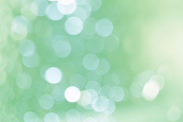 Soft blurred sweet green bokeh background