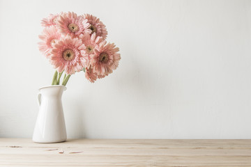 flowers on grunge white background