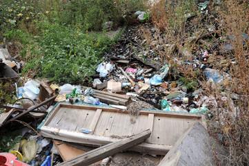 Illegal dump of garbage