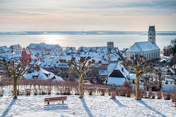 Meersburg am Bodensee im Winter