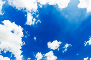 Beautiful blue sky and cloud