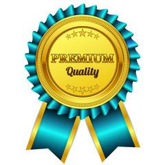 Premium Quality Blue Seal, Label Vector Icon
