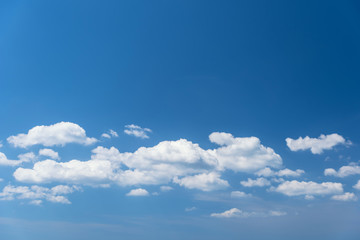 Wonderful white cloud with blue sky