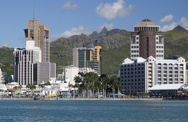 Port Louis skyline by the sea