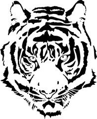 tiger head in black interpretation 11
