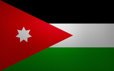 Closeup of Jordan flag