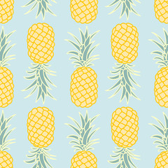 Abstract seamless pineapple pattern.vector illustration