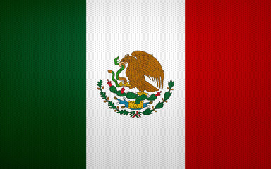 Closeup of Mexican flag
