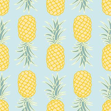 Abstract seamless pineapple pattern.vector illustration