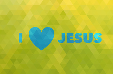 I love Jesus and heart