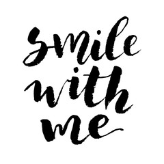 smile with me. inspire love message