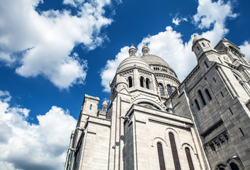 Basilica Sacre Coeur in Montmartre in Paris, France.