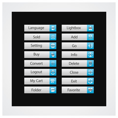 Web Design buttons Theme