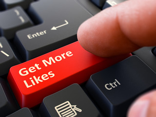 Get More Likes - Clicking Red Keyboard Button.