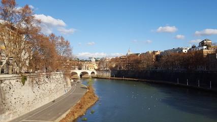 Il fiume Tevere a Roma