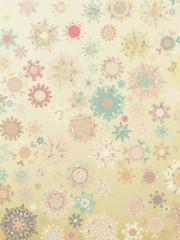 Template Retro Snowflakes background. EPS 8