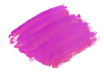 A fragment of the pink background painted with gouache