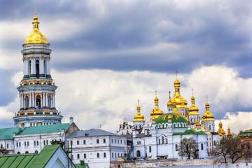 Foto op Aluminium Kiev Great Bell Tower Uspenskiy Cathedral Pechrsk Lavra Kiev