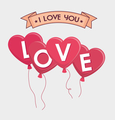 Valentines day lovely card  graphic design