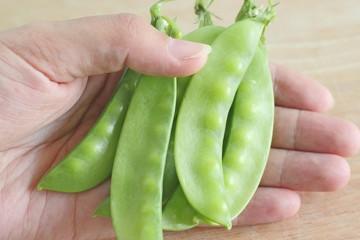 sweet fresh green peas