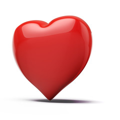3d red heart, valentines day concept