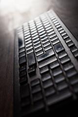 Computer keyboard detail