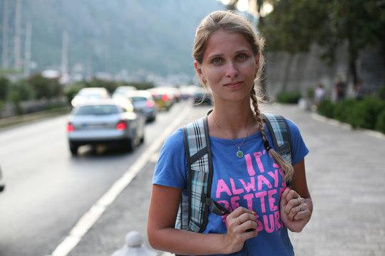 Beautiful Woman Tourist