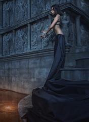 Fairy tale.Dramatic fantasy concept