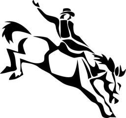 rodeo cowboy - stylized illustration
