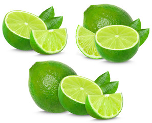 lime collection isolated