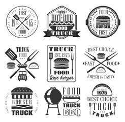 Burger and Fast Food Icon Set.