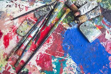 artist's old palette