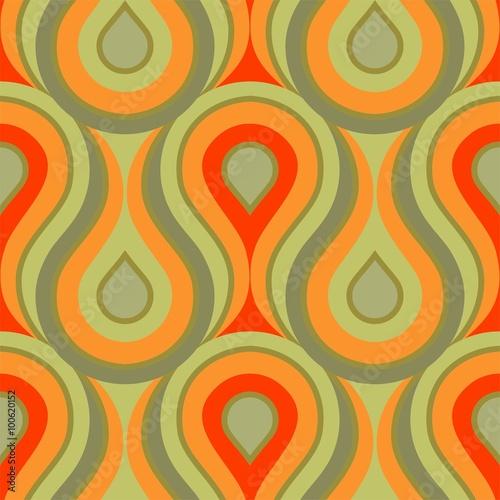 Kachel ornament muster gr n tapete druckmuster flammen wellen gelb orange schn rkel nat rlich for Tapete gelb muster