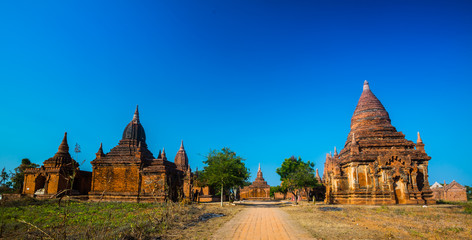 The ancient temple in bagan at Myanmar