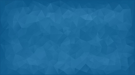 vector illustration - blue abstract mosaic triangle background