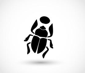 Scarab icon vector