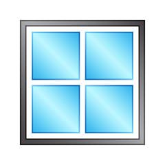 Window With Four Glass Glossy
