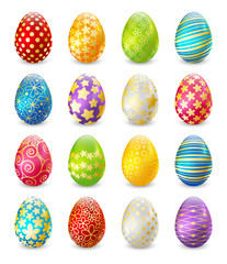 Set of color Easter eggs